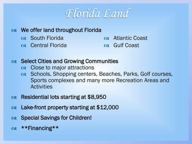 Presents Florida